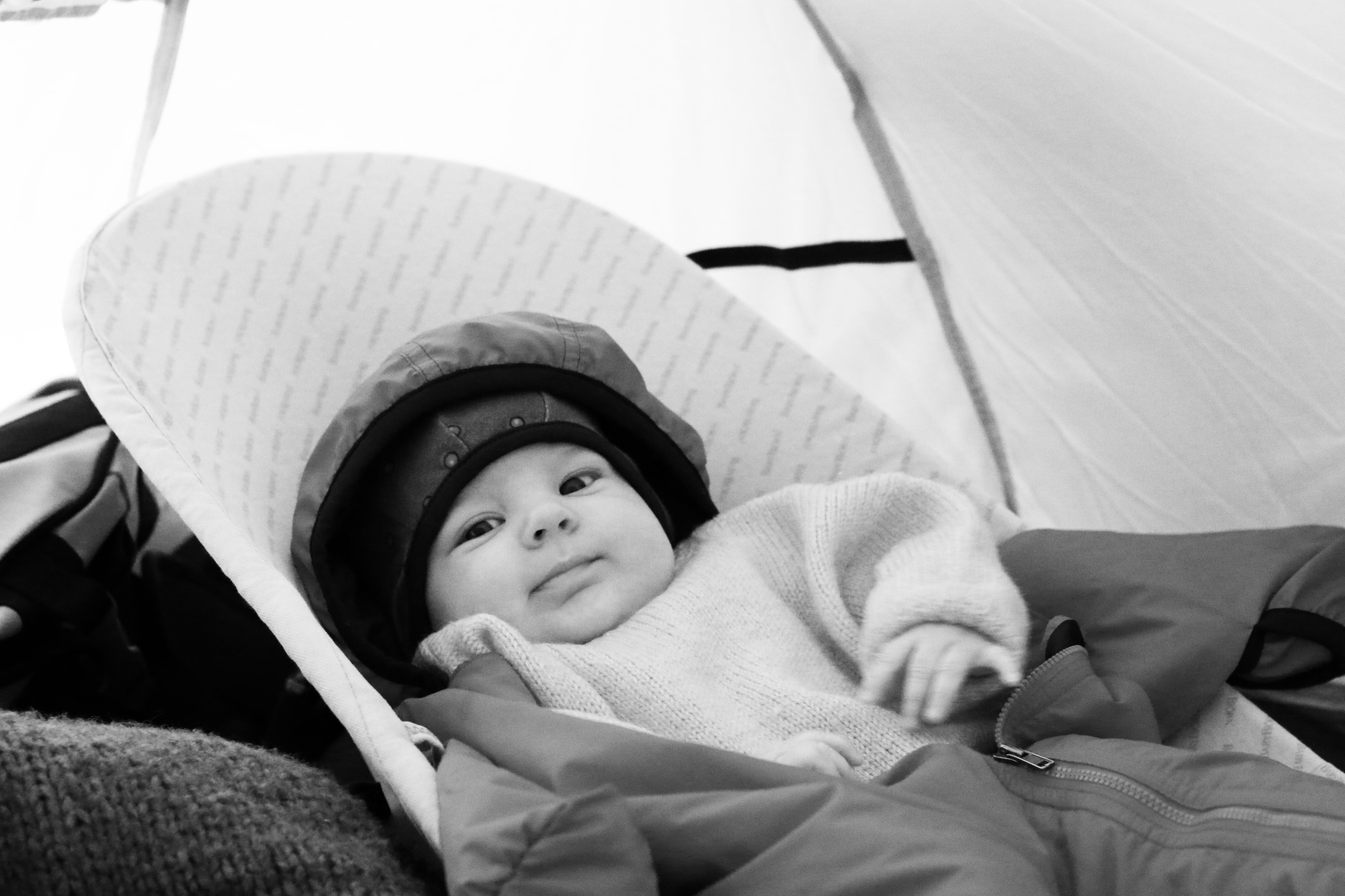 Un bébé en camping par -5°C